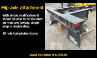 Equipment for sale - Flip Axle Attachment